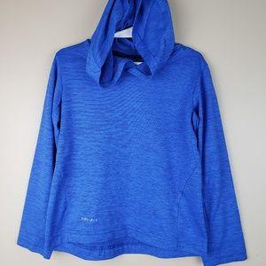 EUC Nike Dri-fit long sleeve hooded shirt, size4-5